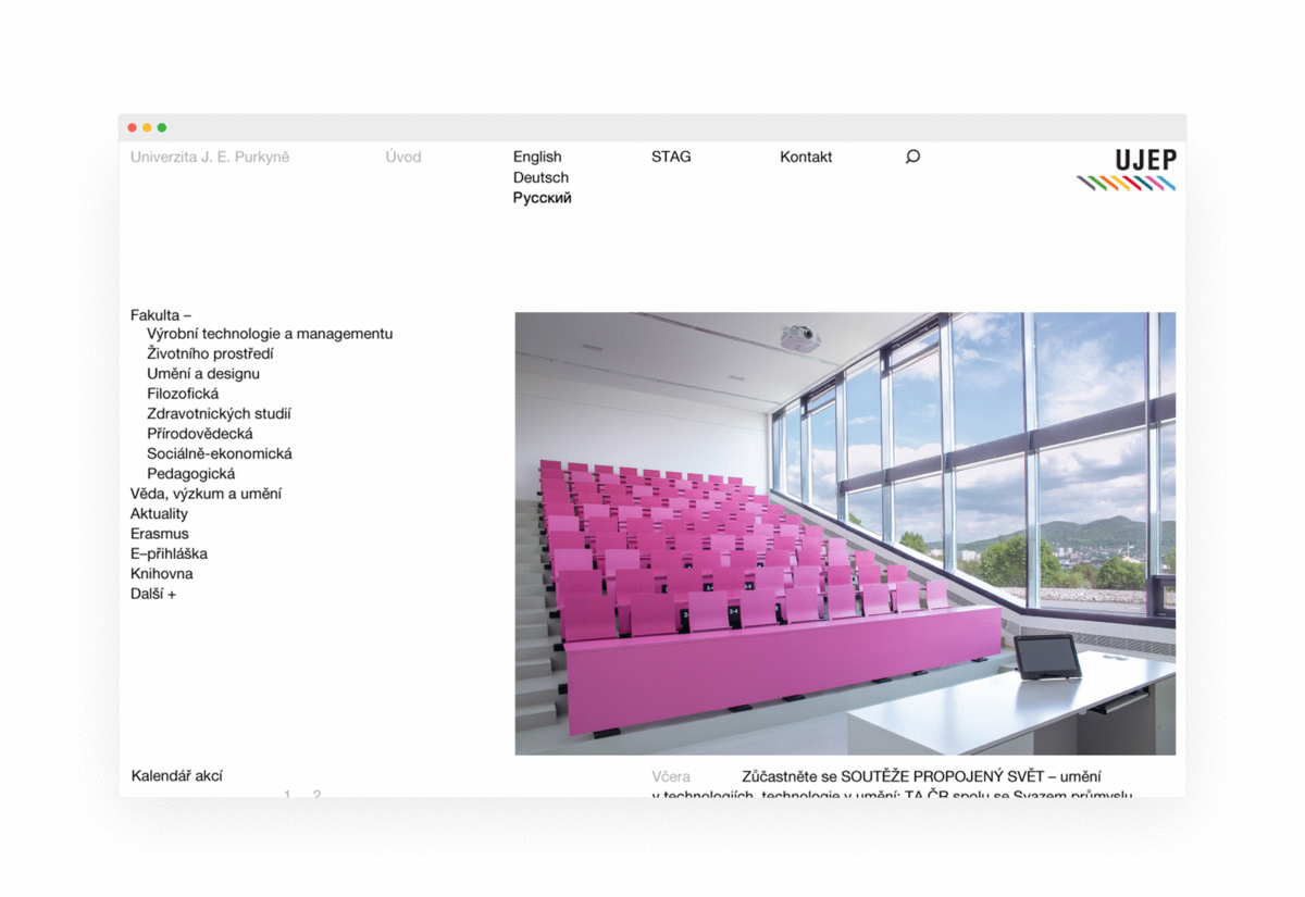New website of University of J. E. Purkyně